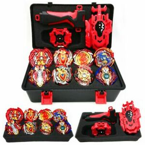 12Pcs-Beyblade-Burst-Red-Devil-and-Red-Fire-Phoenix-Set-with-L-R-Launcher-Grip