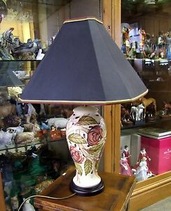Moorcroft table lamp original shade 4612 made in england ebay image is loading moorcroft table lamp original shade 46 12 made aloadofball Choice Image