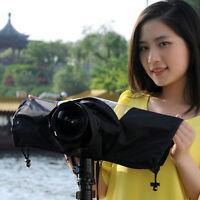 Black Camera Rain Cover Rainproof Dust Protector For Canon Nikon