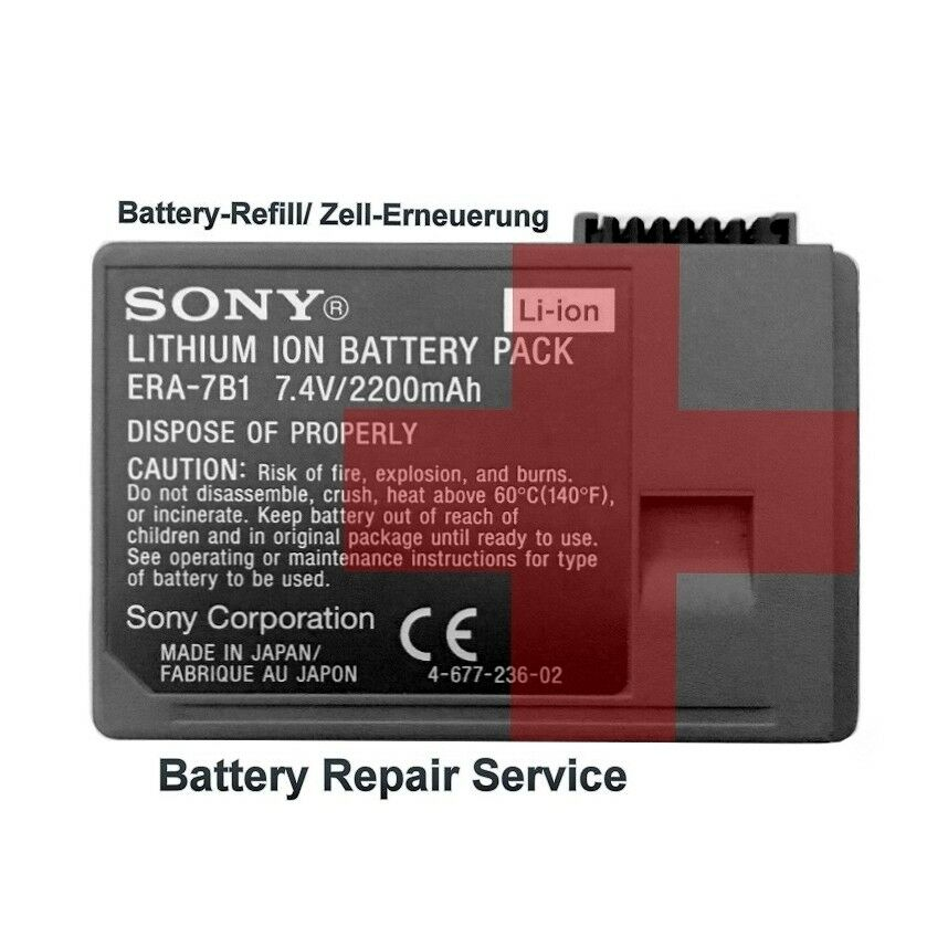Sony AIBO | ers-7b1/b2/301b1 robot-cane battery/batteria Repair Service