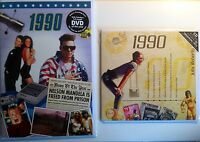 1990 27th Birthday Gifts Set - 1990 DVD , Pop CD and Card - CD Card Company.