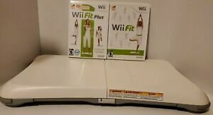Nintendo Balance Board Wii With Wii Fit & Fit Plus Bundle Lot Games Clean Tested