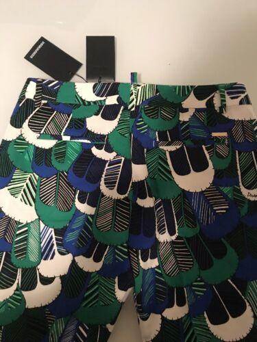 Sz 40 ajusté pour raccourci Pantalon multicolore court imprimé Dsquared2 8052081836926 femme qw8pBP1zz