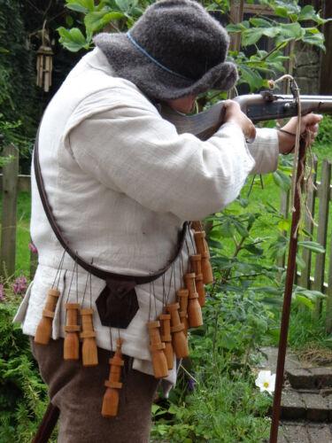 17th Century Bandolier for English Civil War and Thirty Years War reenactment.