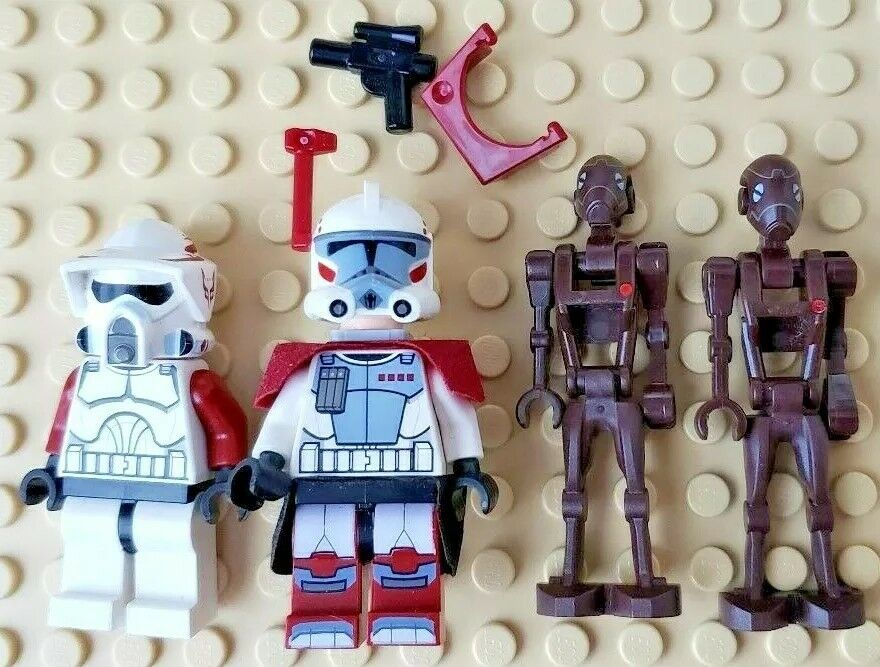Lego 9488 Elite clon Trooper & Comando Droid Battle Pack Minifiguras Arc Trooper