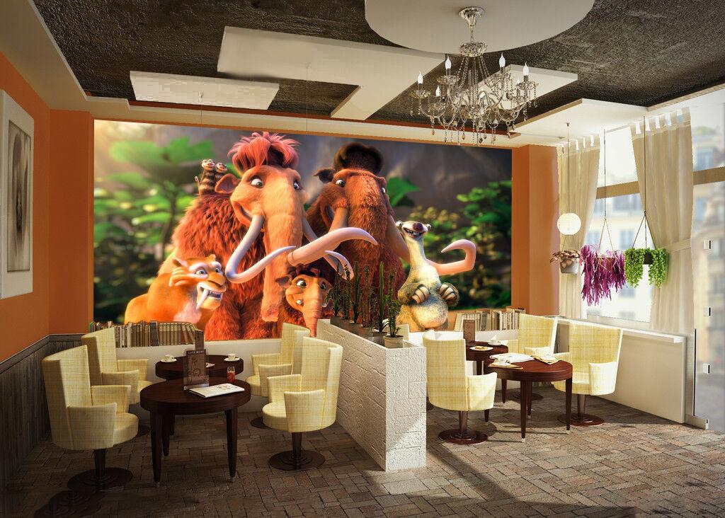 3D 3D 3D Sauvage Comme 3 Photo Papier Peint en Autocollant Murale Plafond Chambre Art 9afdd0