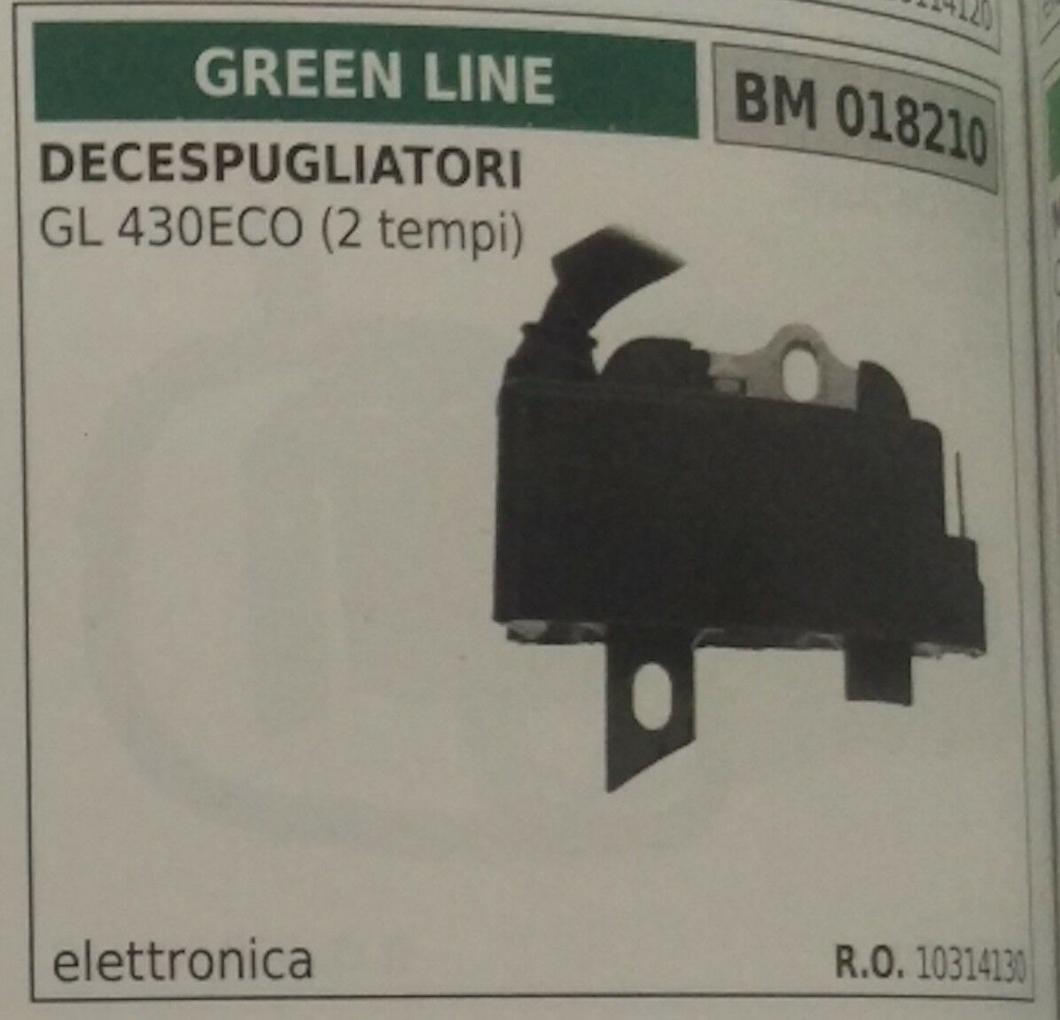 10314130 Bobina Electrónica Cortador de Cepillo verde Line Gl 430 Eco (2T)