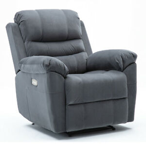 3-Motors-Electric-Power-Recliner-Chair-Suede-Padded-Durable-Frame-Premium-Sofa