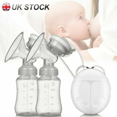 UK USB Automatic Intelligent Electric Hand Free Double Breast Pump Baby Feeder