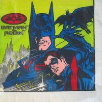 Batman And Robin Vintage Small Napkins (16) Birthday Party Supplies Cake Comic
