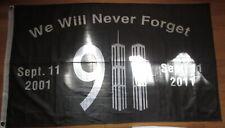 9//11 FLAG 3X5 SEPTEMBER 11TH 2001 NEVER FORGET WORLD TRADE CENTER PENTAGON