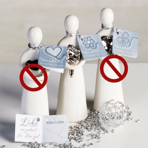 Figur Wish Blume Keramik weiß 12 cm