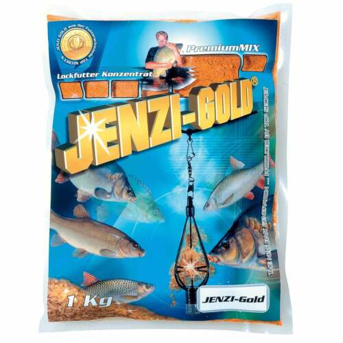 Jenzi Grundfutter Angelfutter Gold Premium Mix 1kg Barben//Käse 7,99EUR//kg