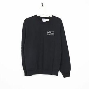 Vintage-CHALKBOARD-Small-Logo-Graphic-Sweatshirt-Black-Small-S