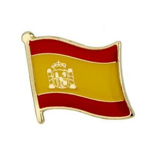 Spain Waving Flag Lapel Pin Made in USA!