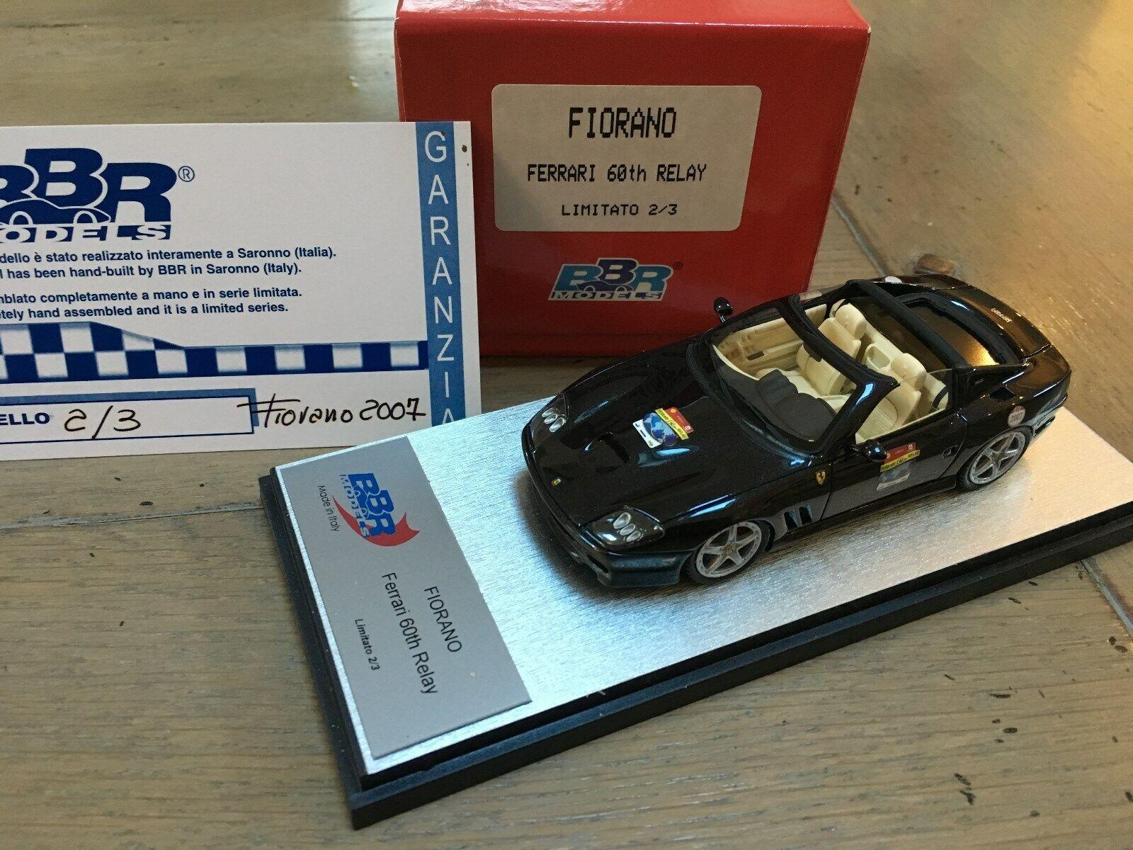 BBR  02 03 Ferrari 575 Super America Roof Open  60th Anniversary Relay RARE 1 43