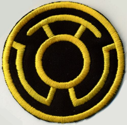 "2.5/"" Yellow on Black Lantern Corps Classic Style Embroidered Iron-on Patch"