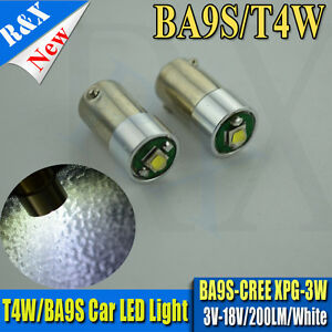 2xBA9S-CREE-3W-LED-Car-Side-Light-Bulb-DC3V-18V-Map-White-233-T4W-360-3893-200LM