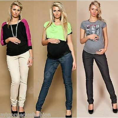 Maternity Pregnancy Trousers Skinny Denim Jeans Over Bump 6 8 10 12 14 16 18