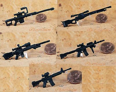 "Hasbro GI Joe 1:18 Action Figure Accessory 3.75"" M82A1 MK11 M4 RIFLE Weapons"