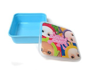 Teletubbies Blue Custard Chaos Plastic Lunch Box Container