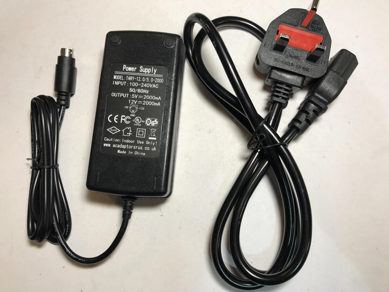 12V 5V 4 Thin Pin AC-DC Adaptor Power Supply for External Hard Drive Enclosure