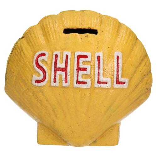 Shell Shaped money bank box en fonte Pétoncle Clam Coin Changer pot fioul 3D
