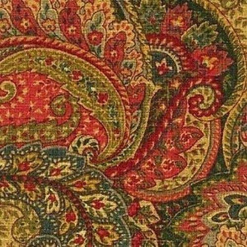 7/8 YD Mill Creek Raymond Waites CASTELLO JEWEL Paisley Drapery Sewing Fabric