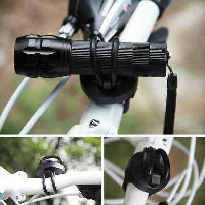 360° Bicycle Bike MTB Handlebar Mount Holder Clip Clamp for LED Flashlight Torch
