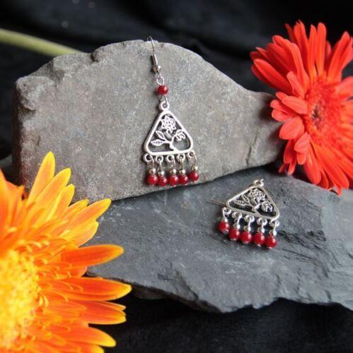 Mignonnes Boucles d/'oreilles Tibétaines en Argent Tibétain