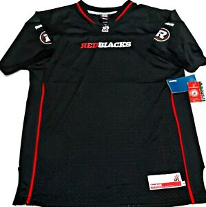 huge selection of 04c34 3e4e2 Details about BLK/LG-NWT REEBOK AUTHENTIC CFL LICENSED OTTAWA REDBLACKS  YOUTH JERSEY MSRP $80