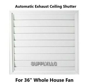 Automatic-Ceiling-Shutter-for-Whole-House-Fan-Gravity-Exhaust-36-034-x-36-034-White