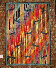 DRAGONFLIES IN FLIGHT QUILT KIT ~ Breathtaking color!!  Stunning batik fabric !!