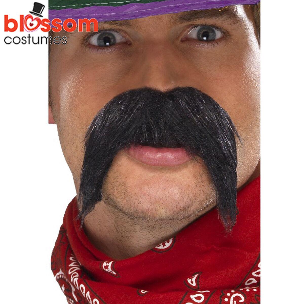 Blonde Biker Mexican Bandit Tash Moustache Fancy Dress 60s 70s 80s Stag Night