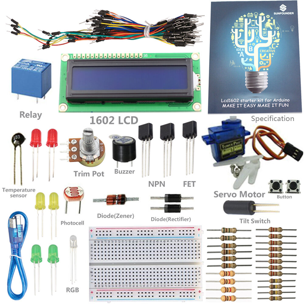 Sunfounder lab project lcd piezo buzzer kit for