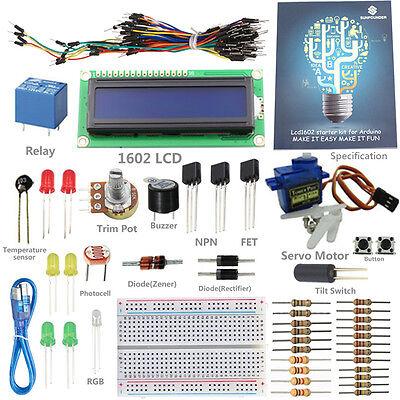 SunFounder New Project 1602 LCD Starter Kit For Arduino UNO R3 Nano Mega