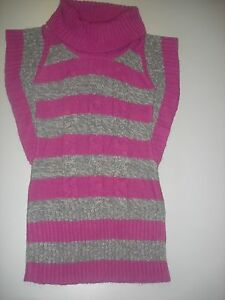 EUC Route 66 pink/purple & gray striped sweater dress girls size L ...