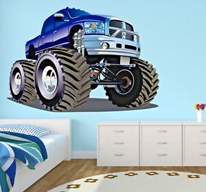 Remarkable Details About Monster Truck Wall Decal Boys Bedroom Art Racing Decor Sticker Jeep Vinyl J476 Home Interior And Landscaping Ologienasavecom