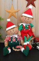 Pattern Christmas Elf Primitive Raggedy Poseable Doll Holiday Folk Art Sewing 94