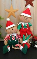 Pattern Christmas Elf Primitive Raggedy Poseable Doll Holiday Folk Art Sewing 94