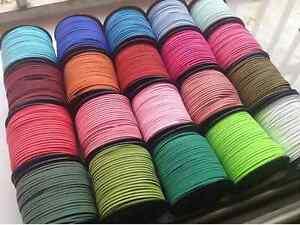 5-100-yards-3mm-Suede-Cord-Flat-Leather-Cord-Bracelet-Necklace-bracelet-rope