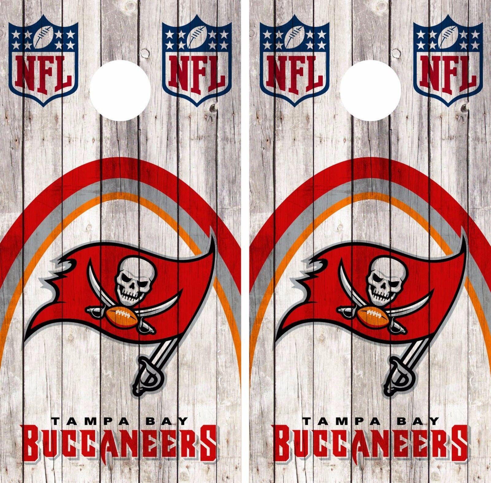 Tampa Bay Buccaneers Cornhole Skin  Wrap NFL Football Wood Design Vinyl DR79  order now enjoy big discount