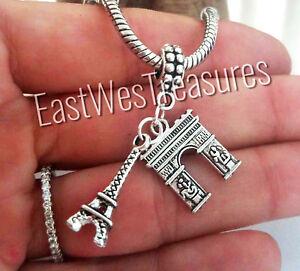 Paris-France-travel-Eiffel-tower-charm-pendant-For-Bracelet-necklace-European