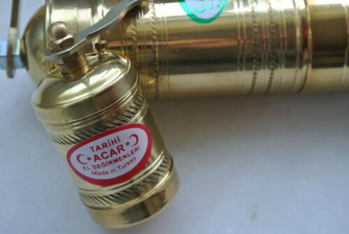 Manuel laiton grec turc moulin broyeur Fixé Grains de Café /& pepper seeds plat