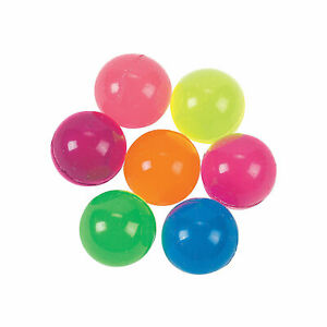 Bright Neon Bouncy Ball Assortment - Toys - 144 Pieces