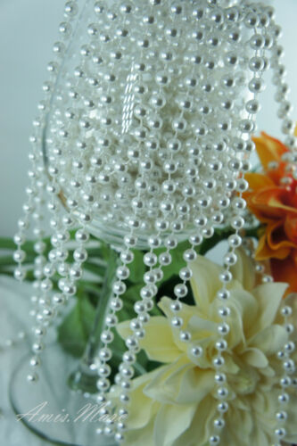 1.5 Meter 6mm White Pearl Garland String for Wedding//Bridal//Corsages//Decorations