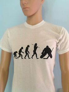 Details About Evolution Of Ice Hockey Goalie Funny Darwin Style Sport T Shirt Adult Men