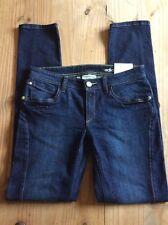 Ladies skinny fit adidas dark denim jeans BNWT size 28W 32L NEO Label