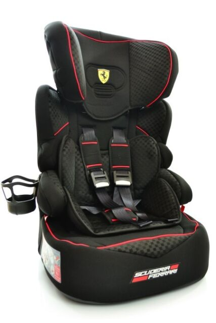 Ferrari Beline Car Seat For Child 9 To 36 Kg 1 To 3 Years Old Kids Certificated