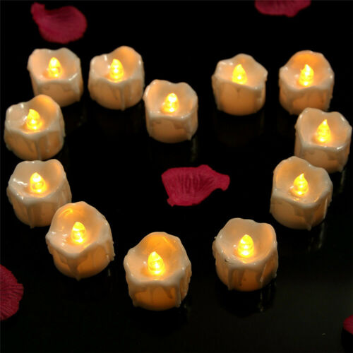 Flameless Flickering LED Tea Lights Home Decoration Electric Candles W// Timer